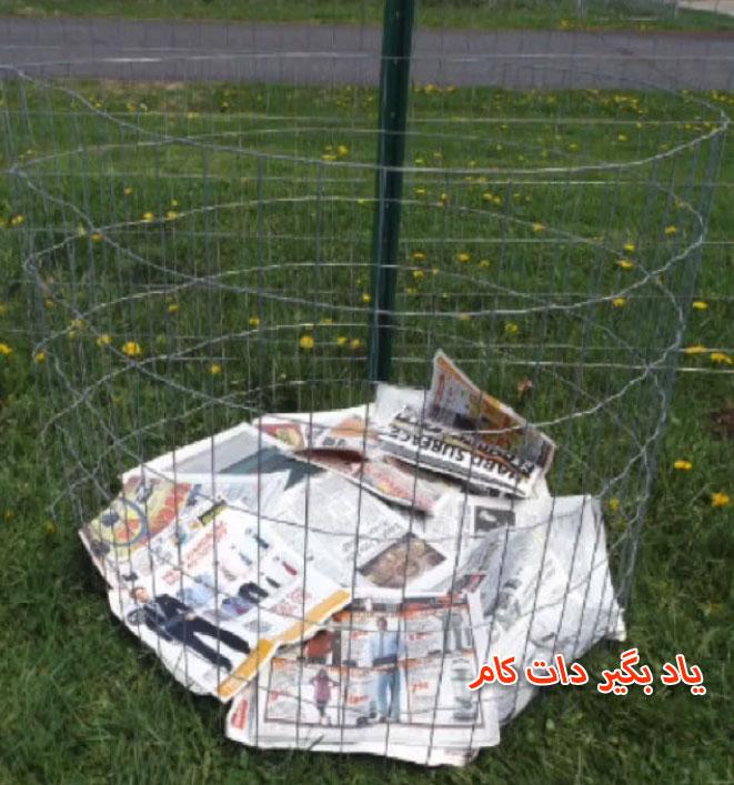فنس برای تولید سیب زمینی در حیاط