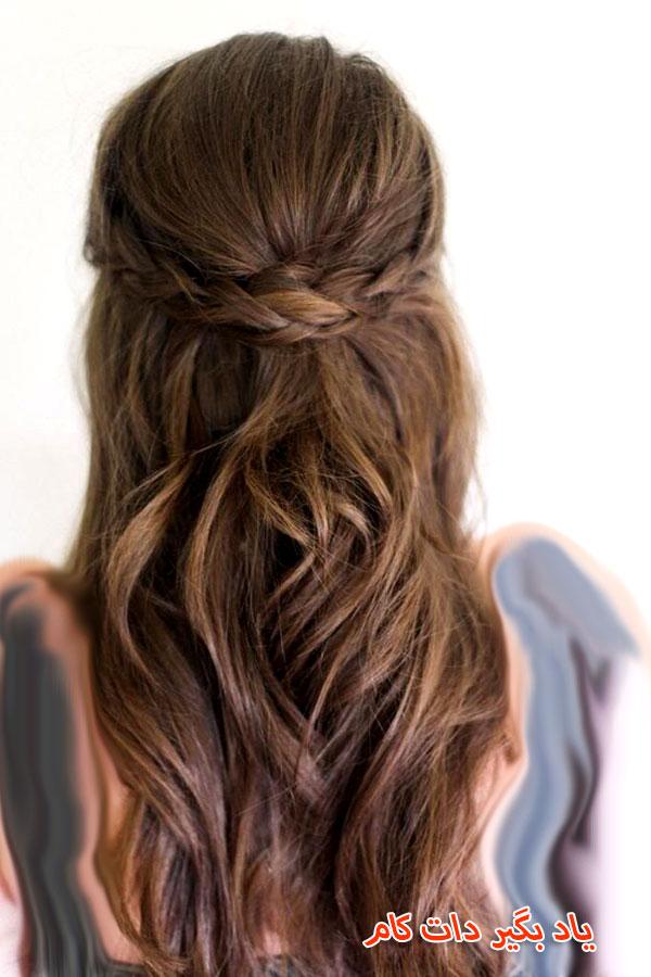 موی ساده برای لباس بلند