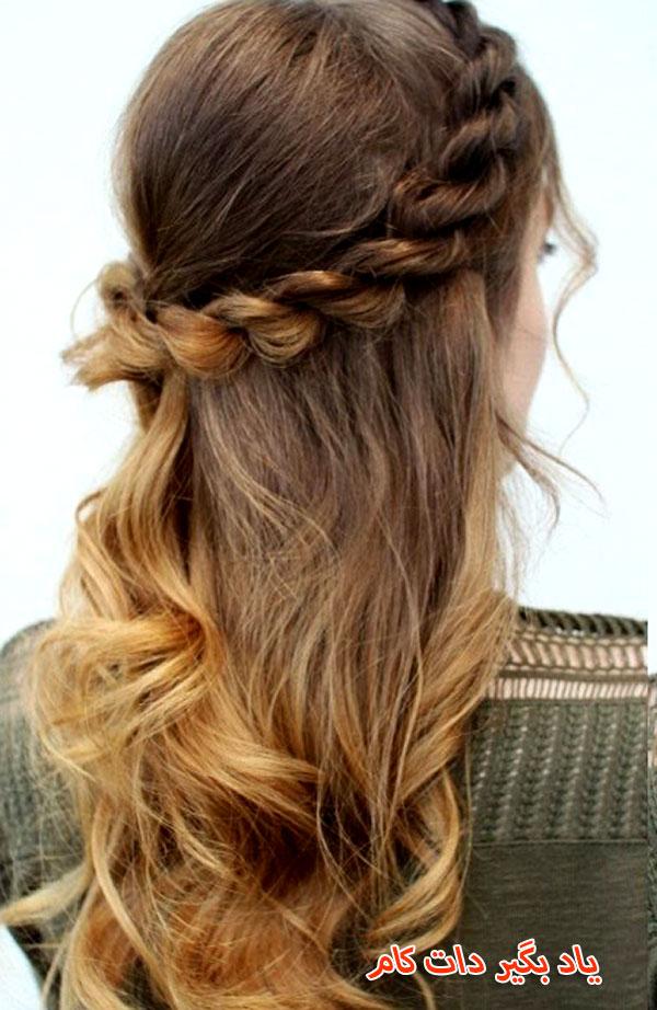 موی مناسب با یقه گرد
