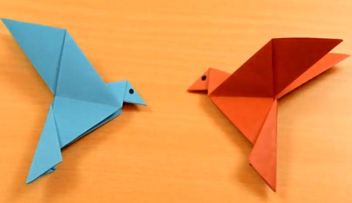 فیلم آموزشی اوریگامی پرنده ساده