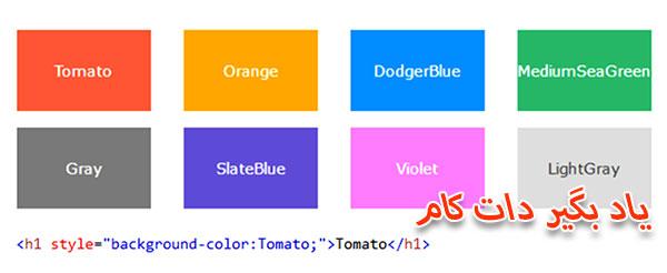 انواع روش های تعیین رنگ در css
