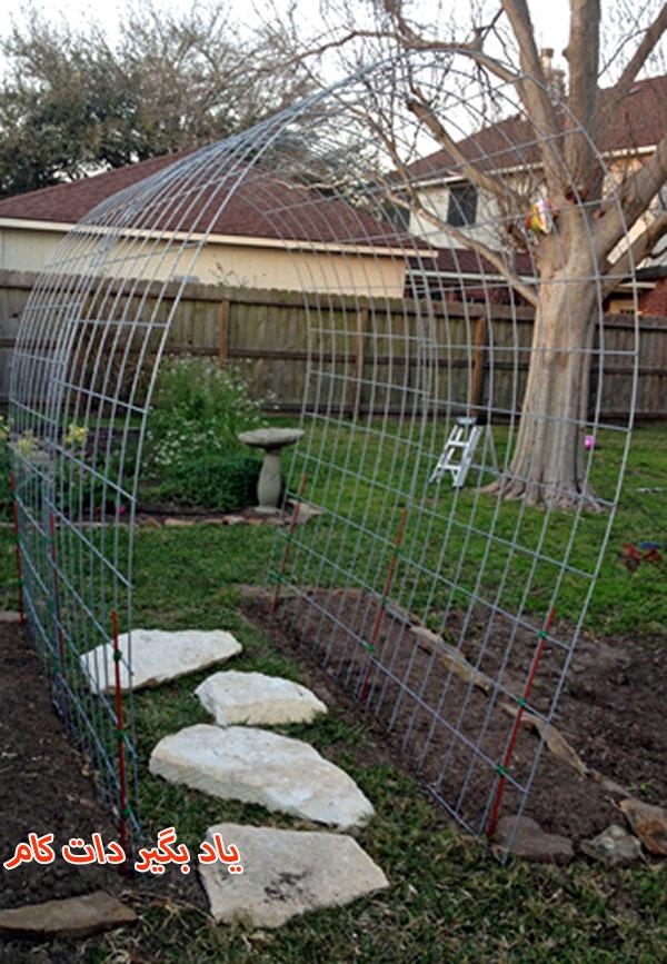 سیم های مفتولی برای صرفه جویی در فضای باغجه