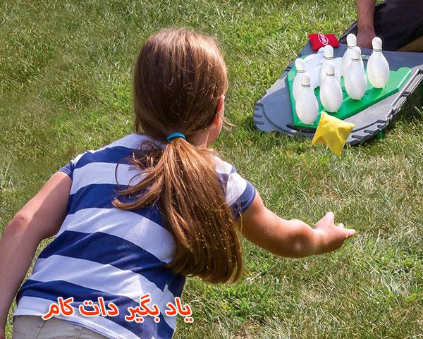 بازی بولینگ با توپ بادکنکی
