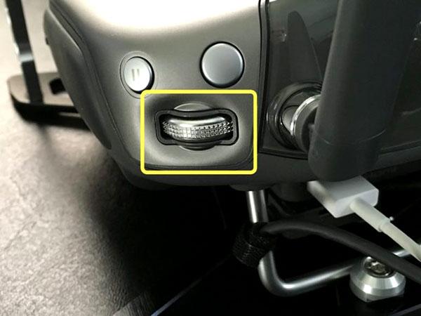 برای تغییر EV شما می توانید از اهرم سمت راست استفاده کنید