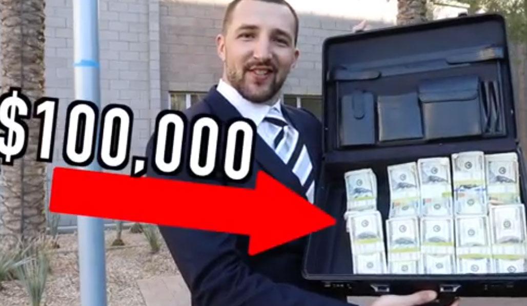 فیلم دوربین خفی بازی با پول زیاد