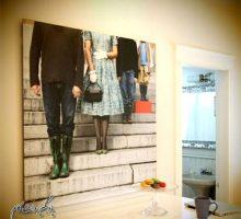 ایده نصب عکس خانوادگی روی دیوار، از پا