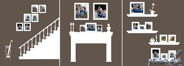 ایده نصب عکس خانوادگی روی دیوار
