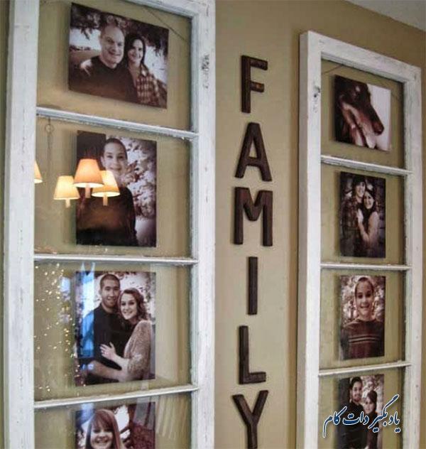 نصب عکس خانوادگی عمودی روی دیوار