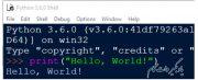 نوشتن مستقیم دستورات در شل پایتون (idle).