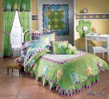 سبز و بنفش، دو رنگ ثانویه در دیوار اتاق کودک