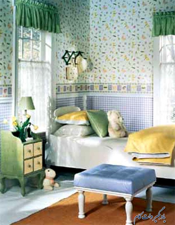 ترکیب زرد و سبز در اتاق کودک