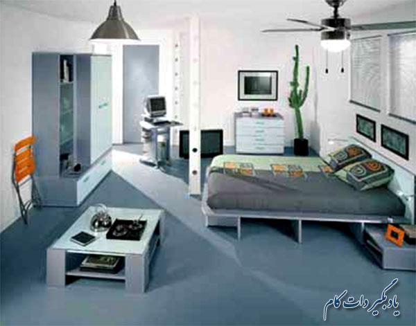 رنگ های سفید و خاکستری در اتاق کودک