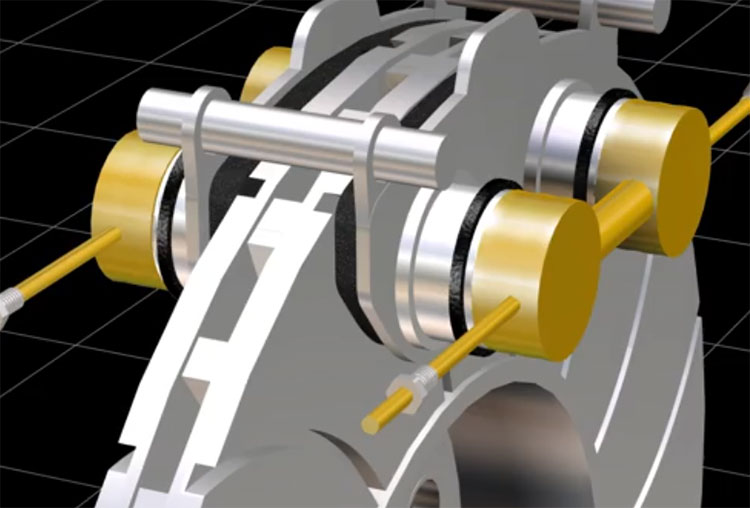 اساس کاری ترمزهای دیسکی انمیشن سه بعدی