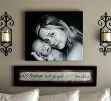 ایده نصب عکس خانوادگی