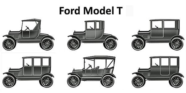موفقیت تولید انبوه با فورد مدل تی T