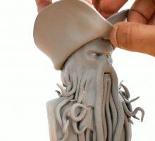 آموزش مجسمه سازی شخصیت ناخدا جونز در دزدان دریایی کاراییب