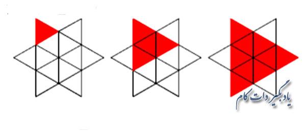 پاسخ تست هوش تعداد مثلث ها
