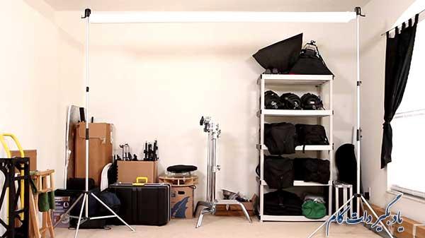 ساخت استودیوی عکاسی در خانه