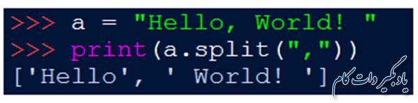تابع split() در پایتون
