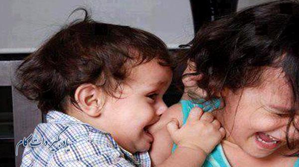 واکنش والدین در برابر گاز گرفتن کودک