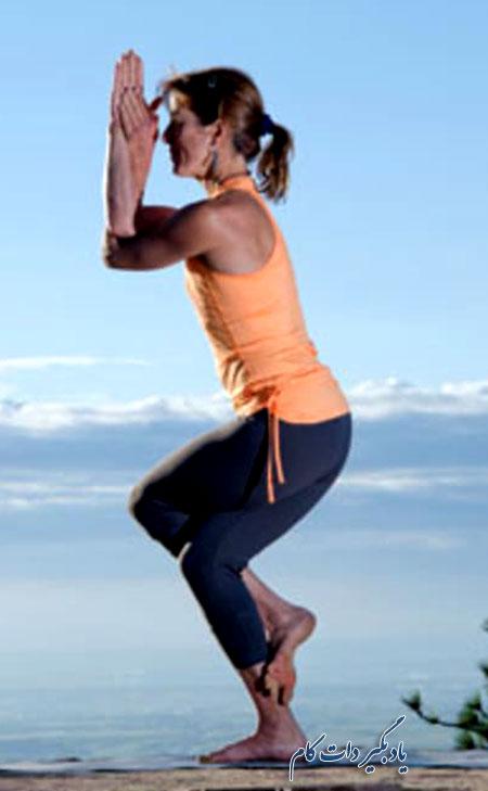 حرکت عقاب یوگا برای کوهنوردان