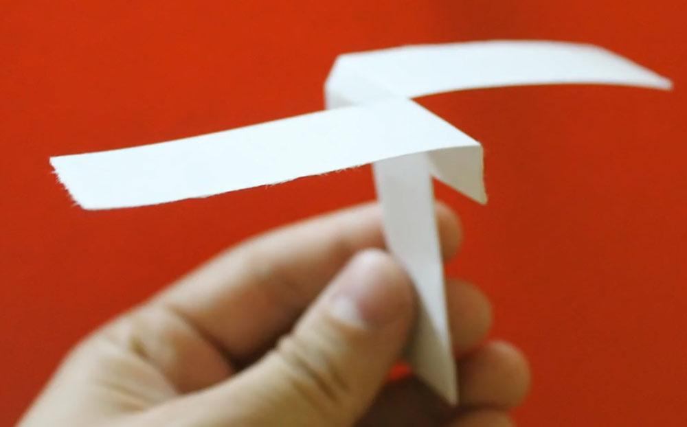 آموزش ساخت هلی کوپتر کاغذی اوریگامی