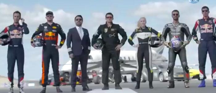مسابقه دیدنی موتور سیکل و هواپیما