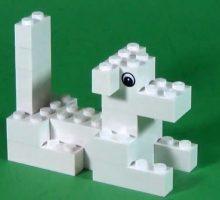 ساخت لگوی ساده و زیبای سگ آموزشی کودکانه