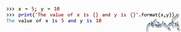 تابع str.format() در پایتون