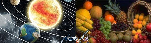 چیستان طبیعت و میوه ها