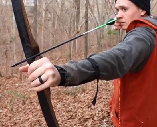 آموزش ساخت تیر و کمان حرفه ای با چوب