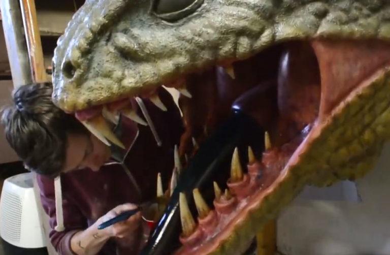 ساخت مجسمه های زیبا از دایناسور ها و حیوانات آموزشی خلاقیت