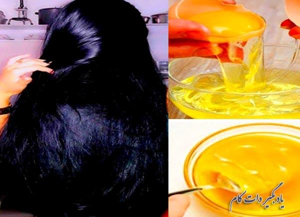 ماسک تخم مرغ برای رشد سریع مو