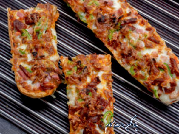 پیتزای گوشت قارچ