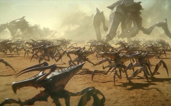 نبرد فیلم علمی تخیلی ارتش کشتی فضایی در مریخ