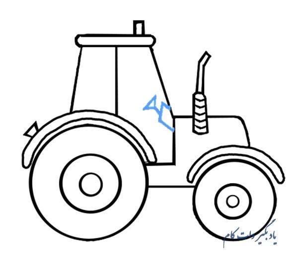 نقاشی تراکتور برای کودکان